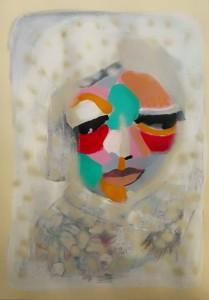 La Neve Ricopre Quasi Tutto, tecnica mista su carta, 100x70 cm, 2015