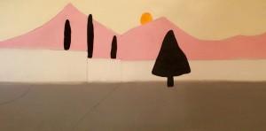 Liquirizia, Panna e Fragola o Tramonto Dolce, 110x50 cm, 2015