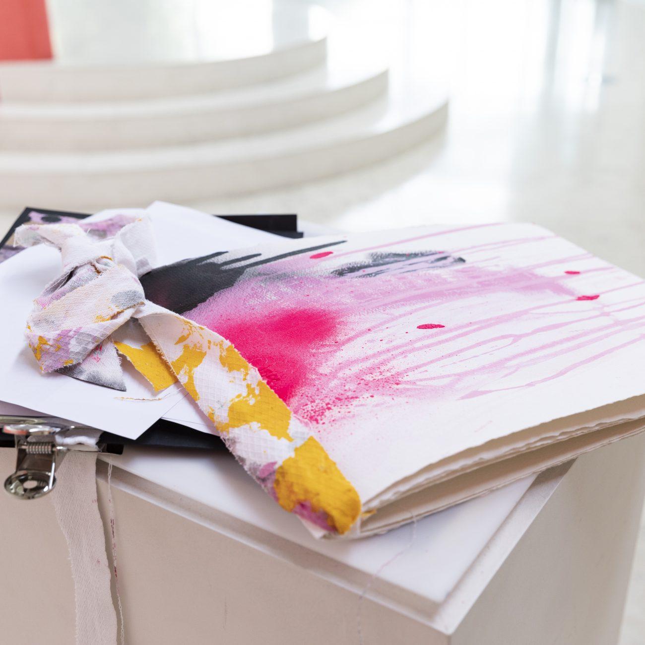 Libro d'artista, tecnica mista su carta, 2019